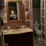 The bathroom in the Romance Suite