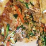 Thai chicken pizza - interesting but I won't order again