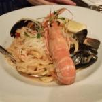Seafood spaghetti.  Great!