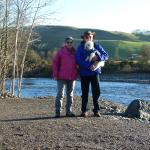 Us on our walk along the Salmon leap walk, one of many in the local area.