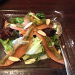 Spicy Salmon Salad with Wasabi Sauce