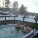 Hot tubbing in the winter!