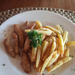 Chicken fingers and fries.. yum yum