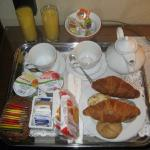 Breakfast served in the room