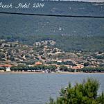 View of Vatera Beach and Hotel Vatera Beach from Agios Fokas Harbour
