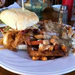 Carnivore Burger with Side of Poutine!!