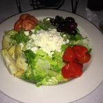 "A nice size salad, ""The Italiana"" which complimented ""The VY"" pizza."