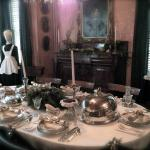 The dining room of Eldon House set for Christmas Dinner.