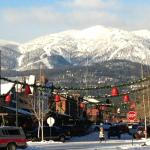 The charming town of Whitefish