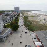 View of Baltic beach from tower