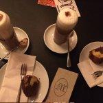 Hot chocolate & orange and chocolate cake