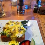 Eggs Monaco - Freshly Ground Pepper?  Yes Please!