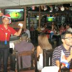 An FUN place to watch CR Futbol•soccer with the locals!!!