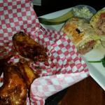 honey ghost wings and steak wrap