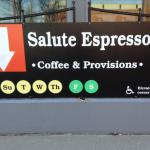 Salute Espresso (BIG) sign