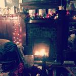 The cozy living room and fire that Marketa lit