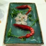 Gamberi rossi ed altri crudi di pesce