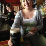 Our lovely Bartender - she pours a fine pint