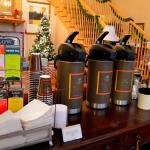 Complimentary hot drinks in the lobby