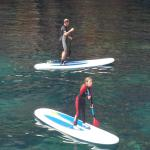 Testing out the paddle boards