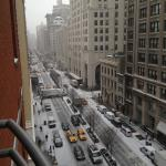 Snowy morning in NYC on Park Ave!