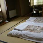 Our Japanese deluxe room with private bath and toilet