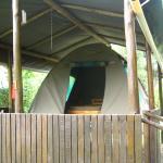 our pre-erected safari tent