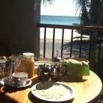 fantastica colazione in camera con vista mozzafiato