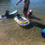 Shallow near the shore- ideal for small children