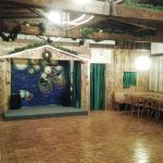 salone con palco spettacoli e baby dance