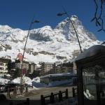 Matterhorn set udendørs fra hotellet