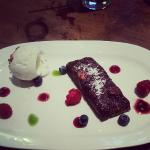 My dessert the Chocolate Brownie, to die for!
