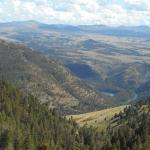 view of Yellowstone river form horseback