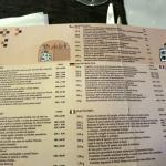 menù cartaceo anche in italiano