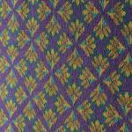 The unique carpet in room 112.