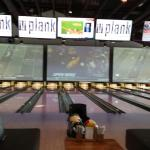 The bowling lanes at plank.