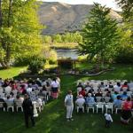 Ceremony on the back lawn
