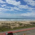 Vista de uma das suítes frente ao mar