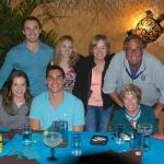 Our fun family dinner group:  photo by our server!