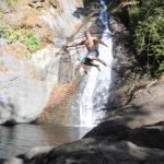 A Stop for a Swim at a Waterfall!