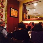 Cuatro's simple interior was filled with families celebrating the New Year