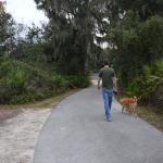 1.29 miles of paved walking paths