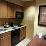 Kitchenette of our Room at Homewood Suites Fayetteville