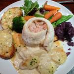 Plaice with Veg and Garlic bread & cheese
