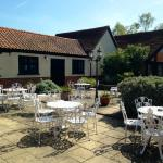 The sheltered sun-trap Courtyard for al fresco dining March-October