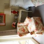 A corner of the bedroom - with fresh roses