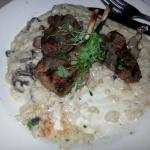 Lamb chops, beef tenderloin, mushroom risotto with black truffle vinaigrette