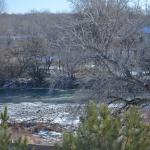 View of the Animas river from the room