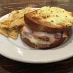 Croque Monsieur (Whole) with Salt & Pepper Chips