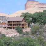 B & B with Capital Reef behind